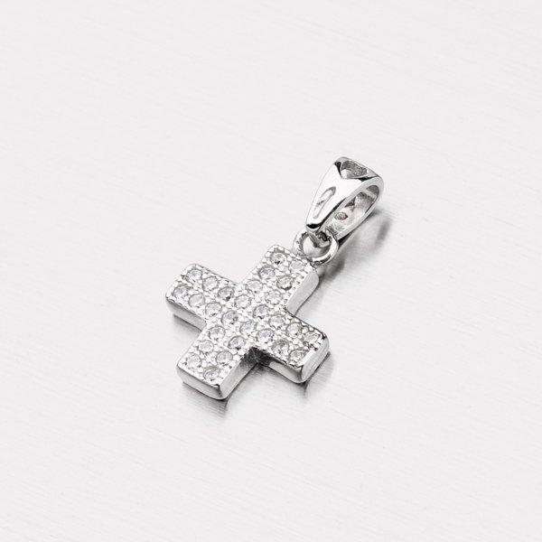 Stříbrný křížek se zirkony PXX23150008