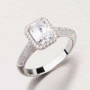 Stříbrný prsten se zirkony RXX04180319