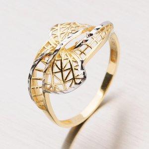 Zlatý prsten s lesklými facetami 11-150