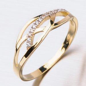 Prsten ze zlata se zirkony 41-NF40