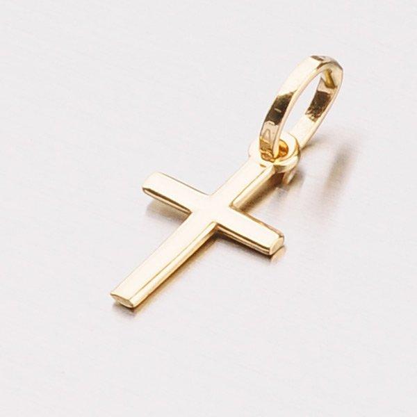 Decentní zlatý křížek 13-184