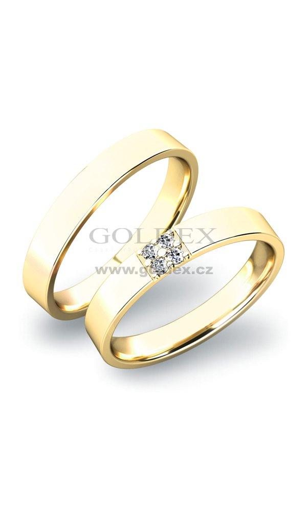 Snubni Prsteny Sp 61027z Goldex Cz