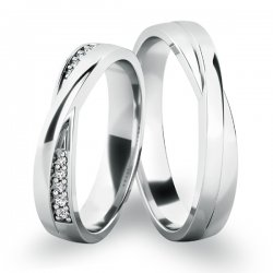 Snubní prsteny z bílého zlata SP-61065B