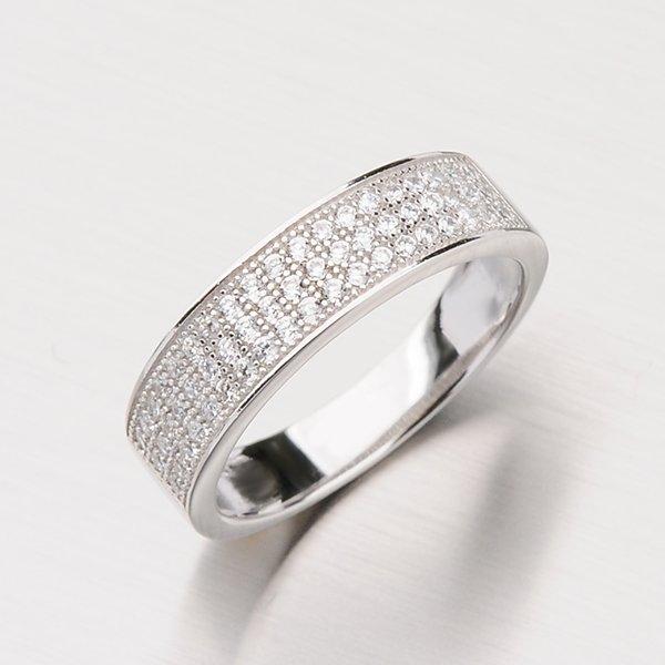 Prsten ze stříbra se zirkony RXX07150153