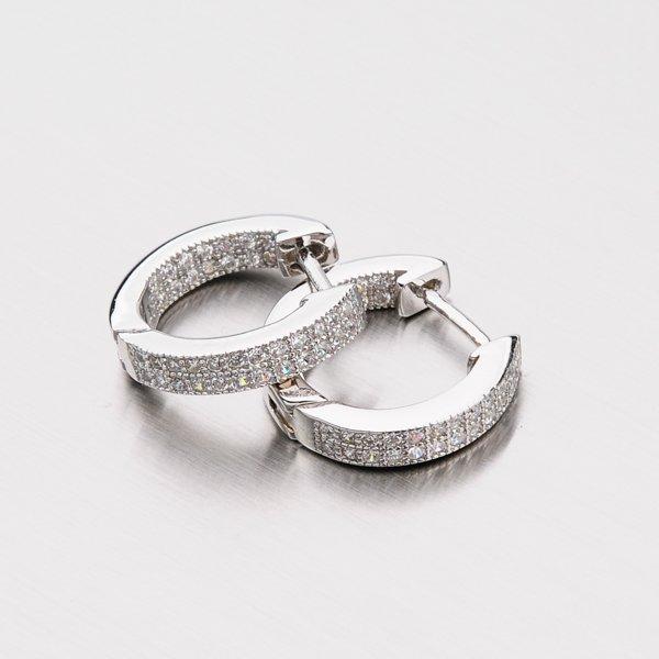Stříbrné kruhy se zirkony EXX02130111
