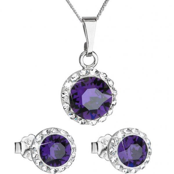 Souprava se Swarovski ELEMENTS 39152.3 purple