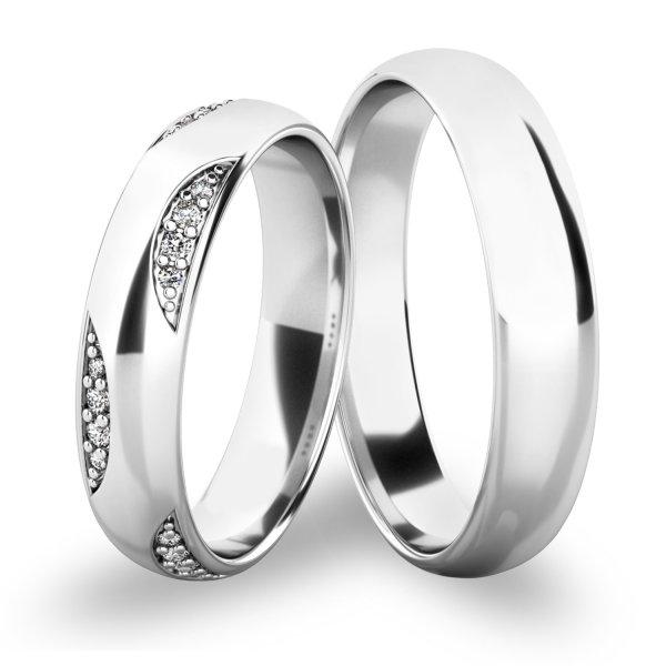 Snubní prsteny - bílé zlato SP-61066B