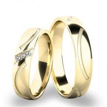 Snubní prsteny ze žlutého zlata SP-61063Z