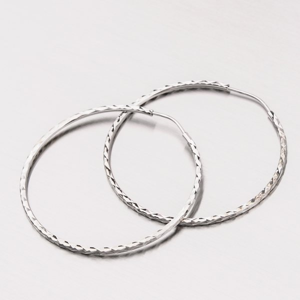 Kruhy z bílého zlata 12-305