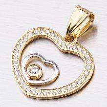 Zlatý přívěsek ve tvaru srdce 13-225