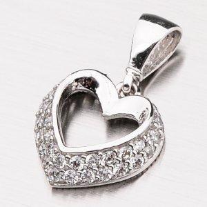 Srdce s bílého zlata 13-205