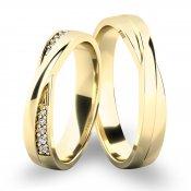 Snubní prsteny ze žlutého zlata SP-61065Z