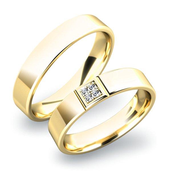 Zlaté snubní prsteny SP-61022Z