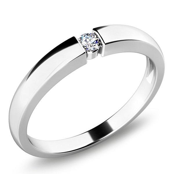 Dámský prsten s diamantem 10935D