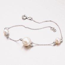 Zlatý perlový náramek 44-1837