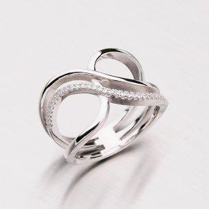 Stříbrný prsten se zirkony RXX04180320