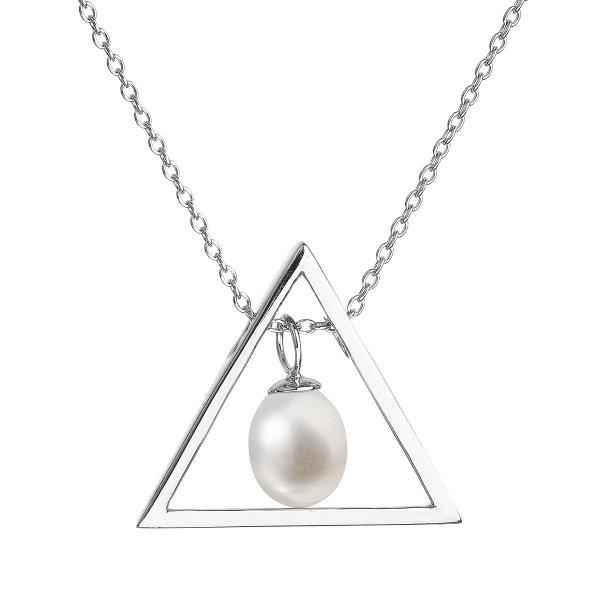 Perlový náhrdelník z pravých říčních perel bílý 22024.1 22024.1