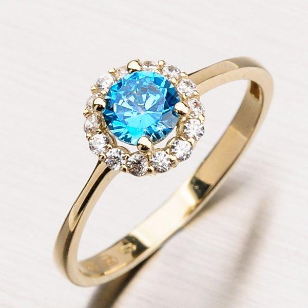 Prsten s akvamarínem 11-163
