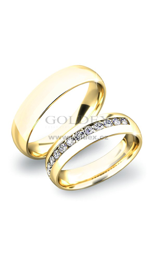 Zlate Snubni Prsteny Sp 61024z Goldex Cz