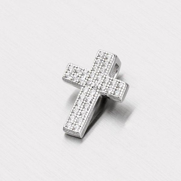 Stříbrný křížek se zirkony PXX07140053