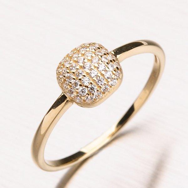 Zlatý prsten se zirkony 11-181
