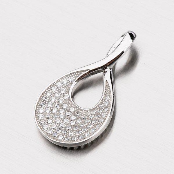 Stříbrný přívěsek se zirkony PZX04140059