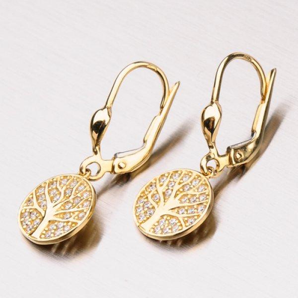 Náušnice ze žlutého zlata 12-345