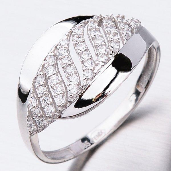 Prsten z bílého zlata 41-NR214