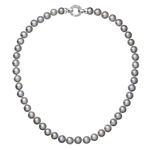 Perlový náhrdelník z pravých říčních perel šedý 22028.3 22028.3