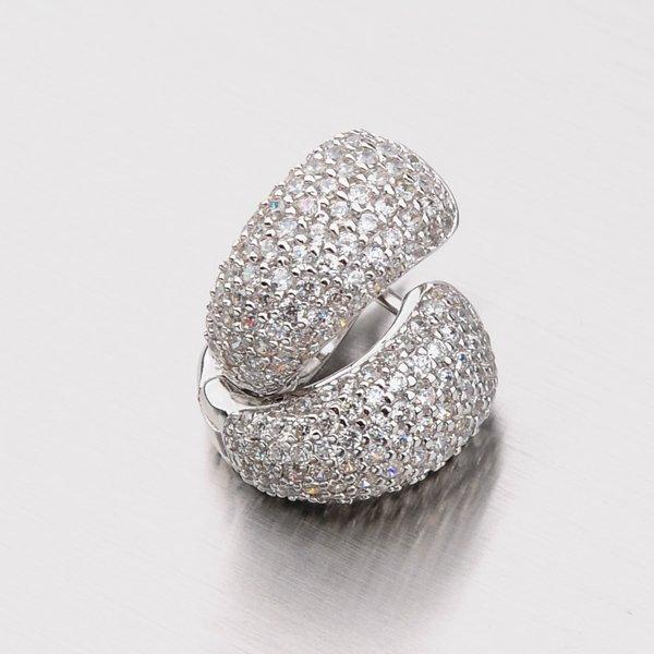Stříbrné náušnice se zirkony EXX01130166