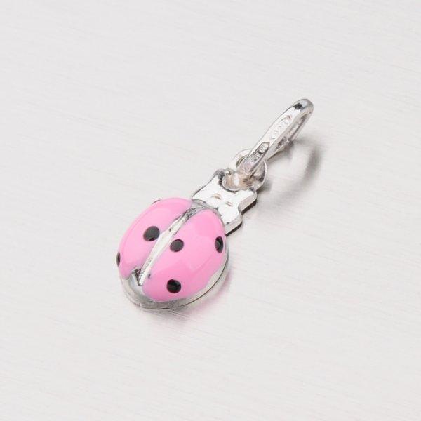 Stříbrný přívěsek - růžová beruška M570988SM-PINK