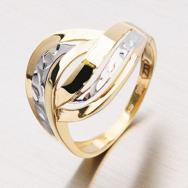 Krásný prsten ze zlata 11-154