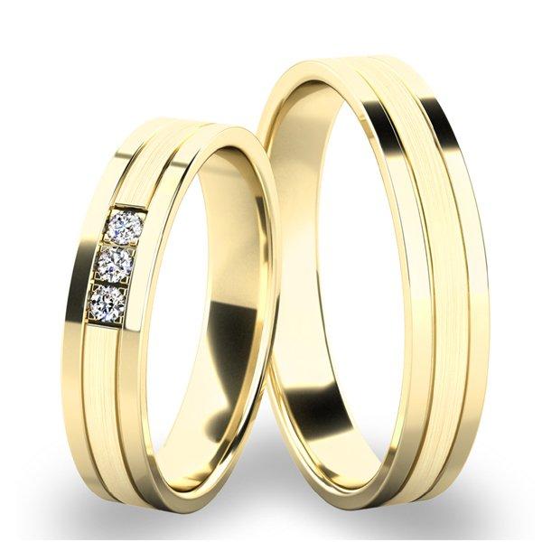 Snubní prsteny ze žlutého zlata SP-61062Z