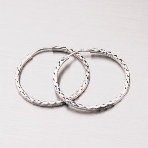 Kruhy z bílého zlata 23 mm 12-304