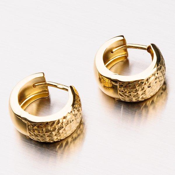 Náušnice ze žlutého zlata 42-31631