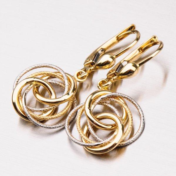 Dámské zlaté náušnice 12-326