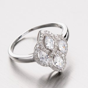 Zářivý stříbrný prsten se zirkony RXX02130298