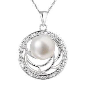 Perlový náhrdelník z pravých říčních perel bílý 22029.1 22029.1