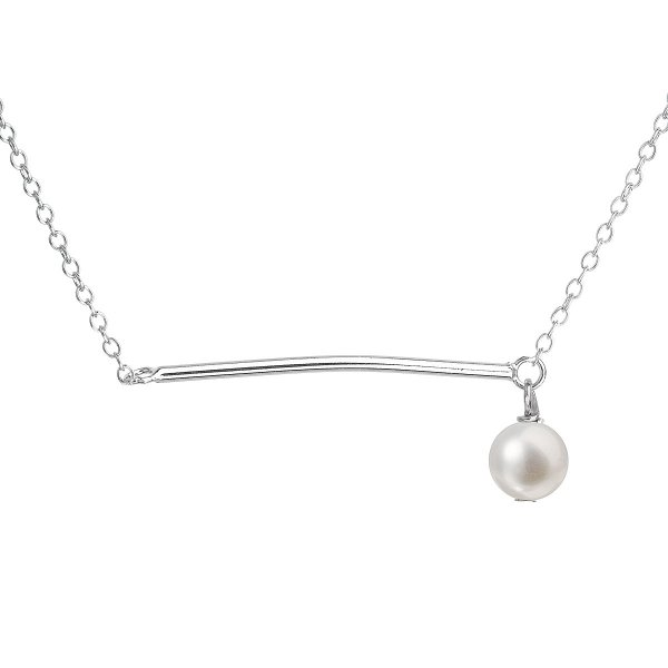 Perlový náhrdelník z pravých říčních perel bílý 22022.1 22022.1