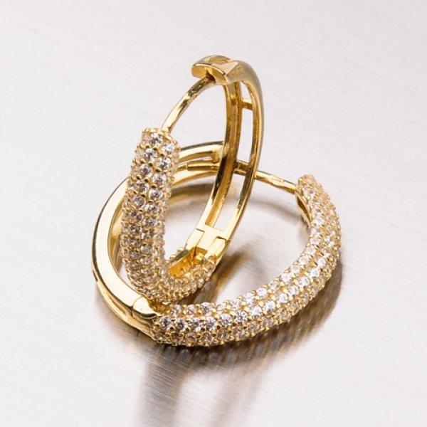 Zářivé zlaté kruhy 12-363