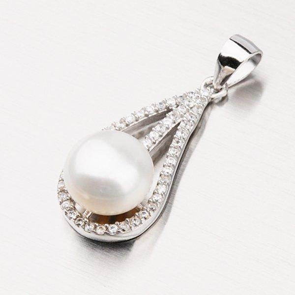 Stříbrný přívěsek s perlou GLM13-006