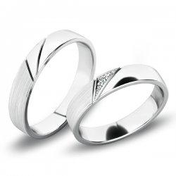 Snubní prsteny z bílého zlata SP-61076B