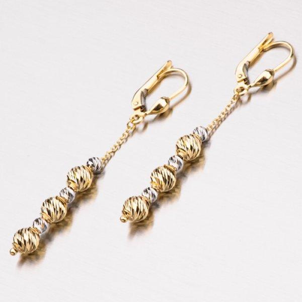 Visací náušnice ze zlata 12-348