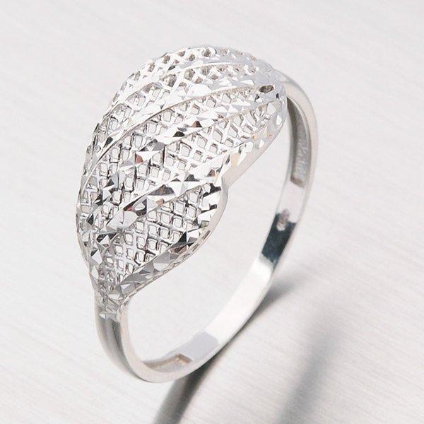 Prsten z bílého zlata 11-156