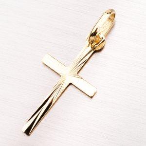 Zlatý přívěsek kříž 13-195