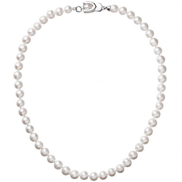 Perlový náhrdelník z pravých říčních perel bílý 22007.1 22007.1