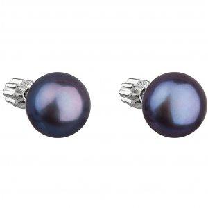 Náušnice pecky s modrou perlou 21004.3