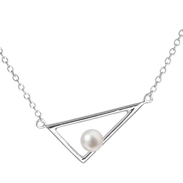 Perlový náhrdelník z pravých říčních perel bílý 22020.1 22020.1