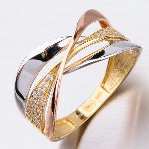 Dámský zlatý prsten 41-NP178