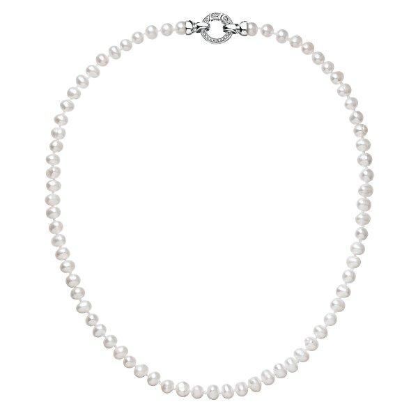 Perlový náhrdelník z pravých říčních perel bílý 22001.1 22001.1